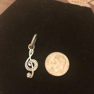 Brighton musical note treble clef charm